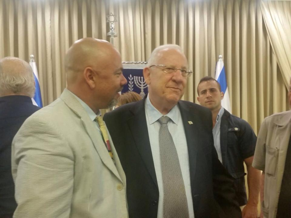 With the President of Israel