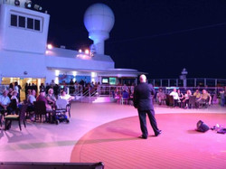 Presenting on board Norwegian Cruise Line