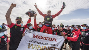 Honda one-two in the 2021 Dakar Rally: Kevin Benavides, champion, and Ricky Brabec, second.
