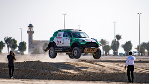 Yasir Seaidan won the super stage at Sharqiyah International Baja.