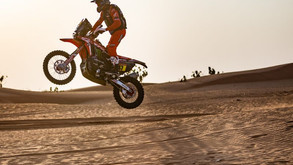 A third one-two for Honda riders. Benavides and Cornejo on the assault in the Dakar