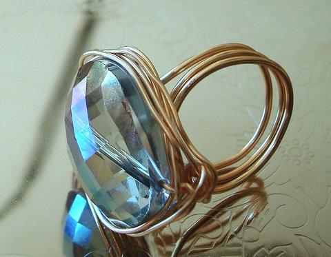 Golden Blue Ring