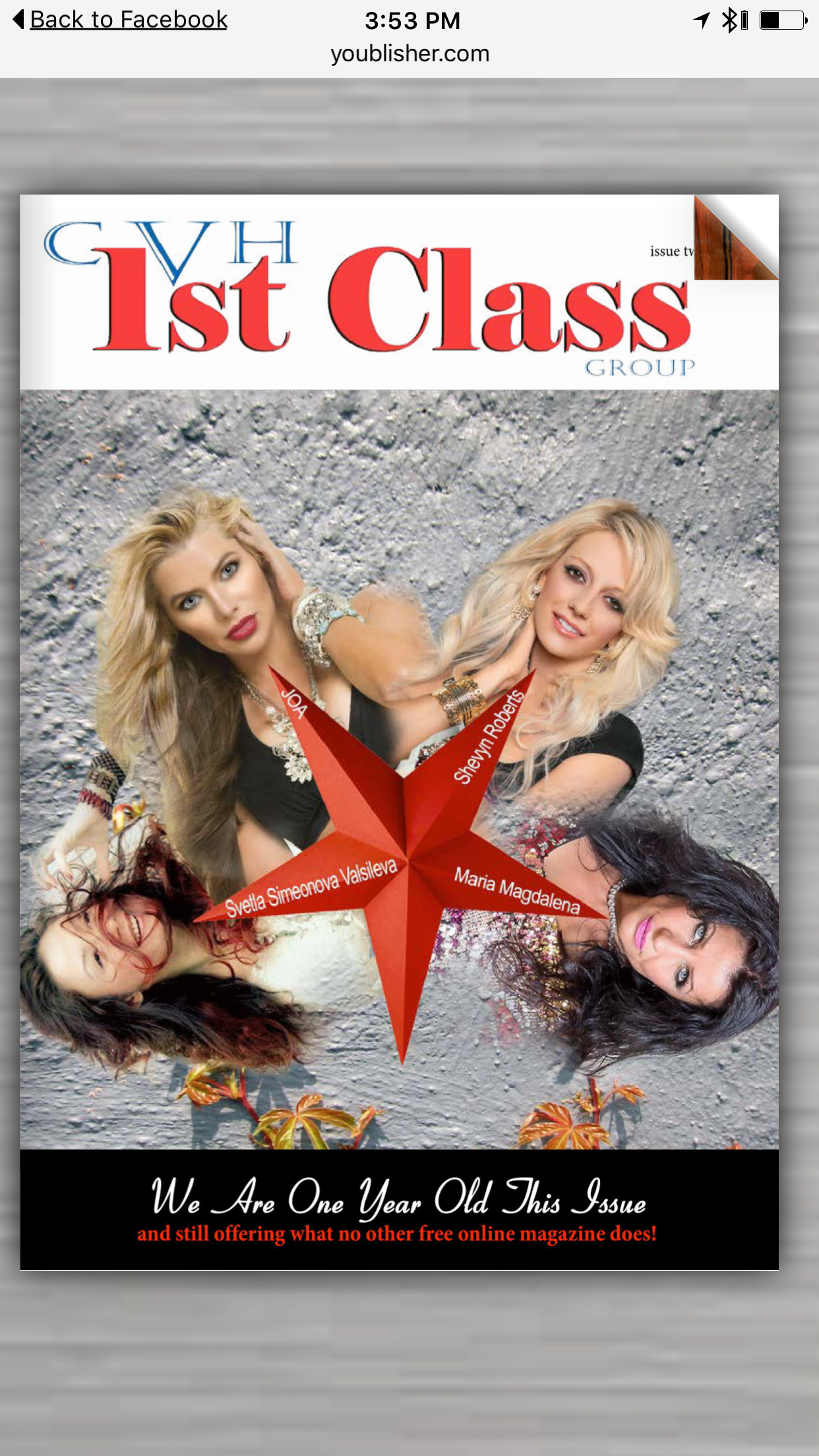First Class Magazine with J.O.A.
