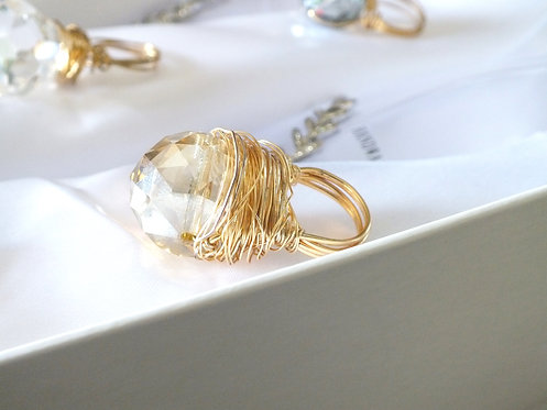 Gold Large Bobble Ring