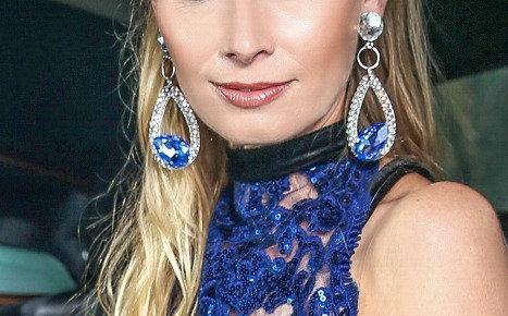Sapphire Crystal Earring