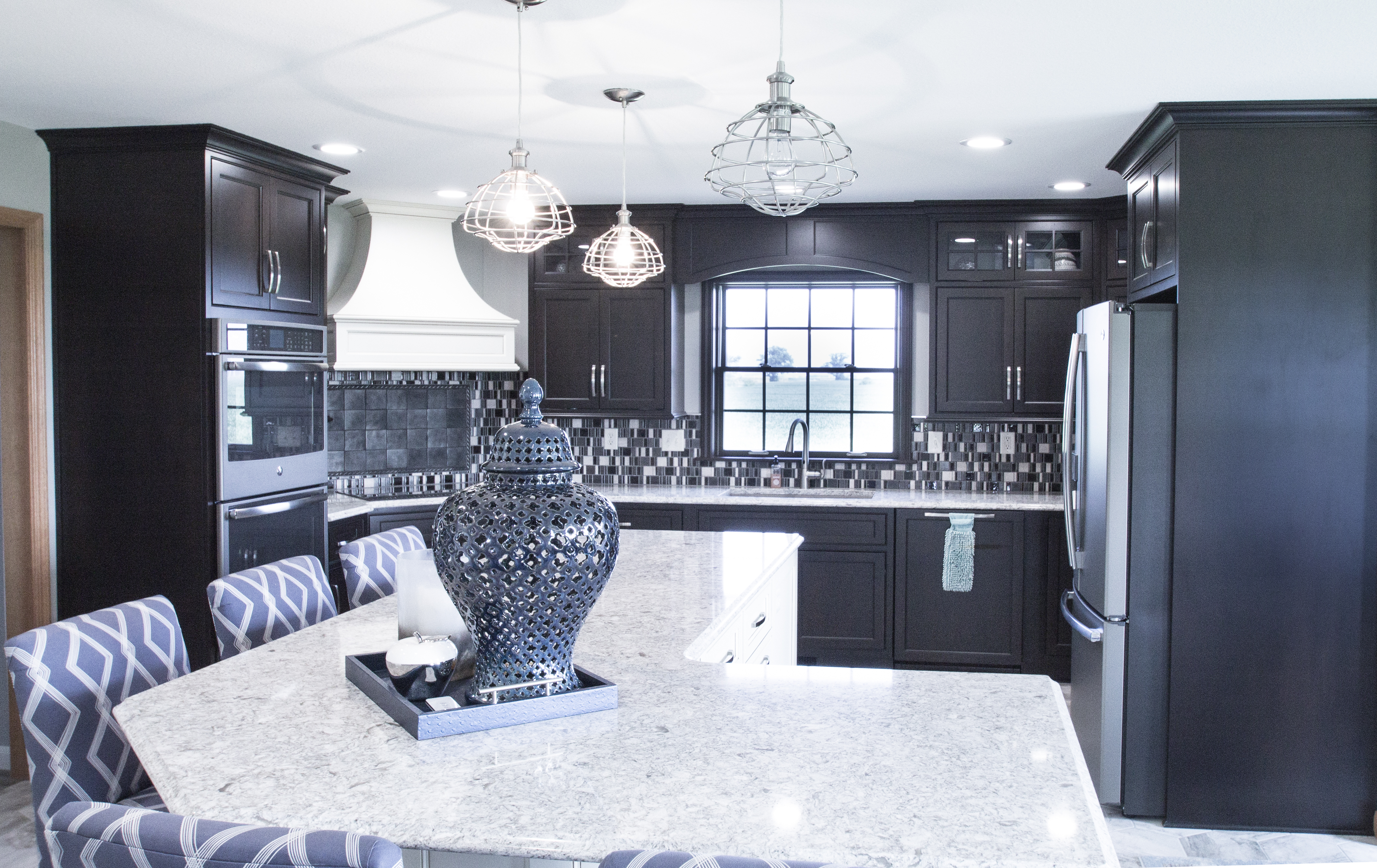 Carbon Black Stain Wood Cabinets