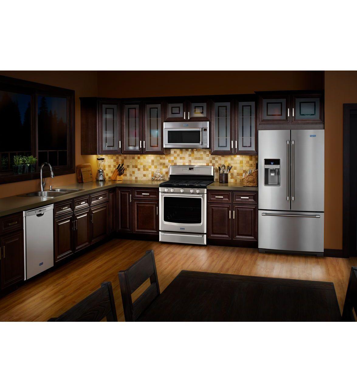 Dark kitchen cabinetry