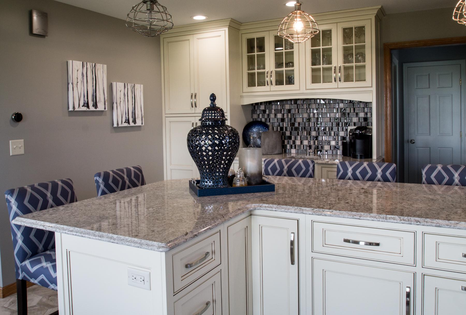 Kitchen remodel white island