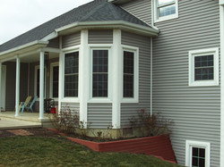 Pergola remodel with double hung windows