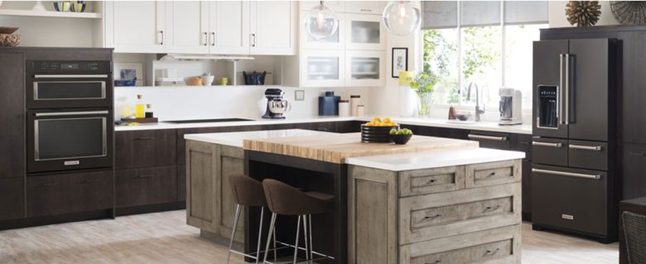 Wood cabinetry two tone
