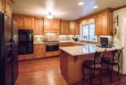 kitchen seating remodel light