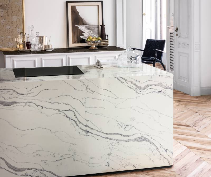 Corian Quartz with a Marble look