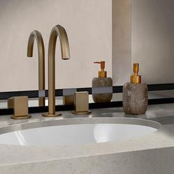 Corian Quartz with integrated sink