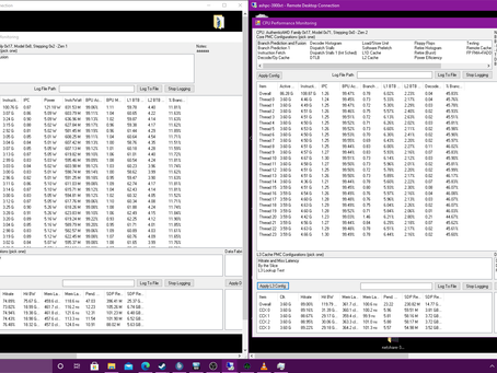 (Tech Stuff) Zen1+ (2950X) vs Zen2 (3900XT) IPC and L3 Hit Rate in OpenPandemics C-19 (WCG)