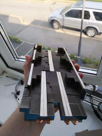Heatsink for the Radeon VII.