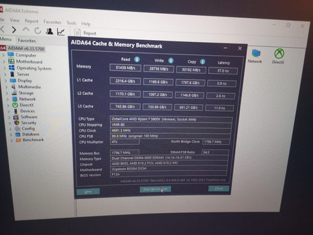 (upmeme) Sash overclocked his 5800X and Memory (oof?) and also listed the main PC spec on rigs page.
