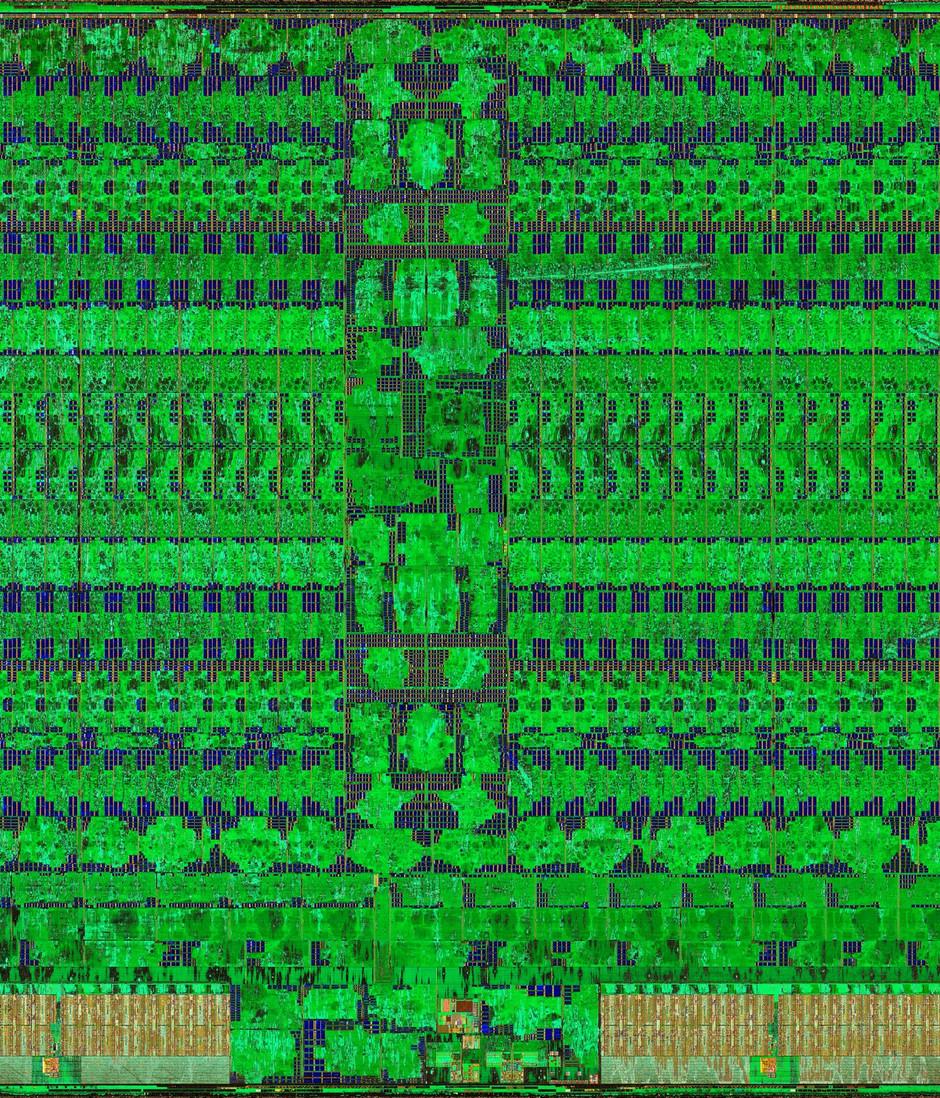 Vega 10 silicon die shot