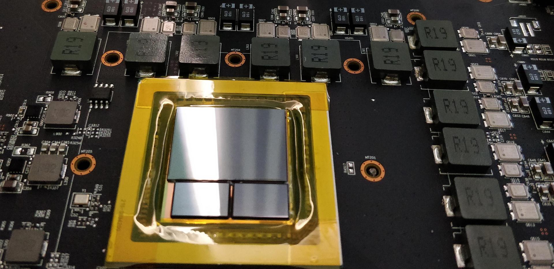 Vega 10 GPU package with dual stack HBM2