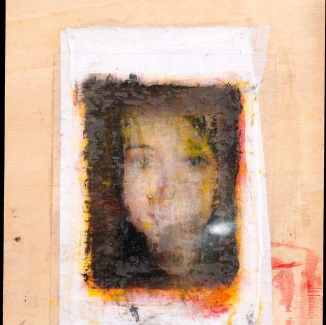 Face on wood, 2014