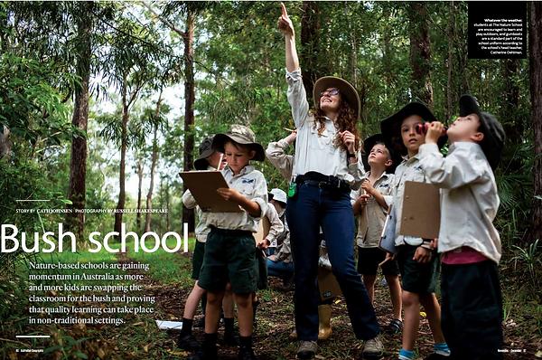 The Nature School Australian Geographic magazine Catherine Oehlman