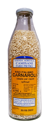 RISO CARNAROLI IN BOTTIGLIA DI VETRO 100% ITALIANO  - Gr. 800