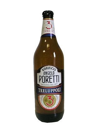BIRRA PORETTI 3 LUPPOLI BOTTIGLIA   - Lt 0,66