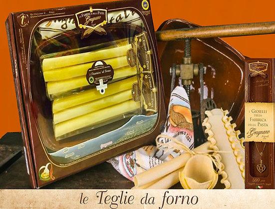 TEGLIA DA FORNO CON 2 CONFEZIONI PASTA TIRAMISU' DA 250 gr.