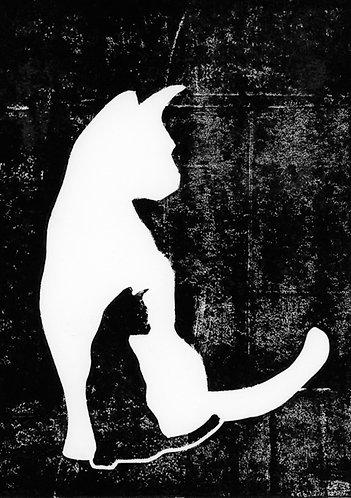 White Cat Black Cat card