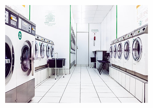 Laundrette White A4 print
