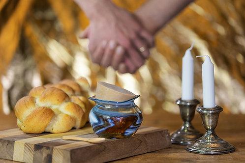 Standard Wedding Glass Set: Smashing Glass & Shard Honey Jar