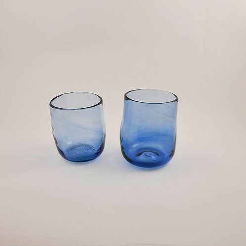 Pair of Small Glasses In Recycled Blue
