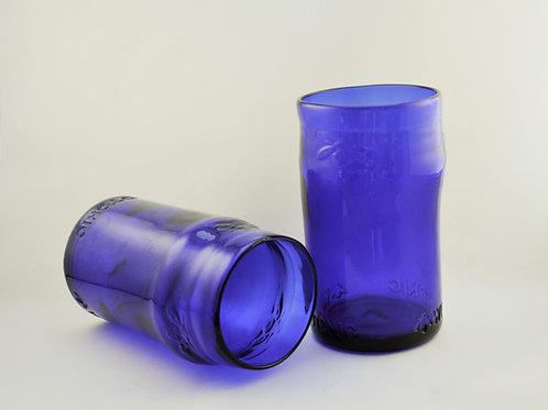Pair of Upcycled Kombucha Bottle Glasses