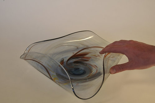 Glassentaschen Dish: Large With Feathery Swirls