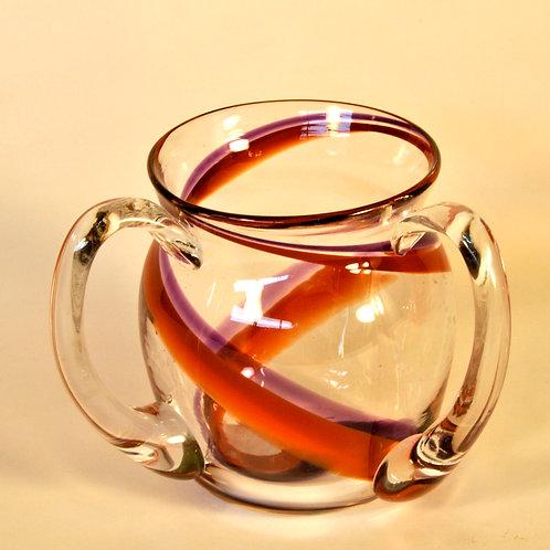 Violet Swirl Handwashing Cup