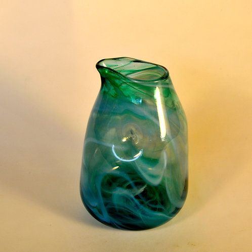 Turquoise Wave Pitcher