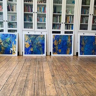 4 blue paintings _#hertsopenstudios #her
