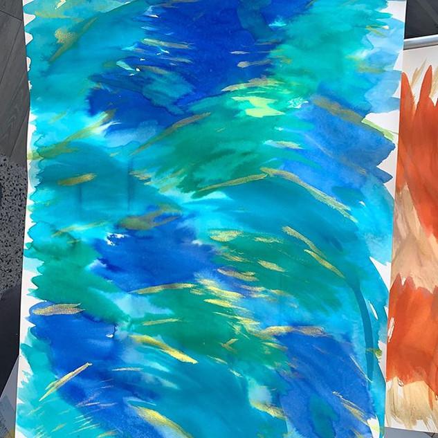 Some of today's activities _#art #waterc