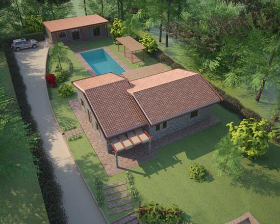 Vista aerea Progetto Villa