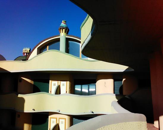 Vista del pallazzo Gaudi