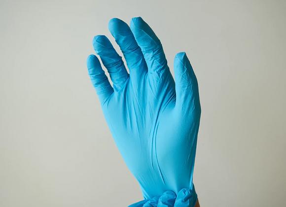 100PCS Black Disposable Gloves Latex /Rubber/