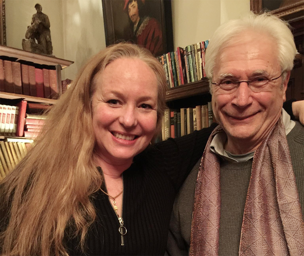 Nora Bateson and Dr. Kenneth Silvestri at The Players Club in NYC, March 2017