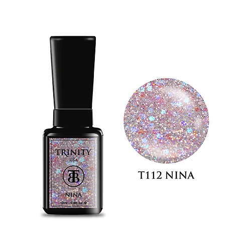 T112 - Trinity Soak Off Gel Polish - Nina  (Glitter) - 12ml/0.4oz