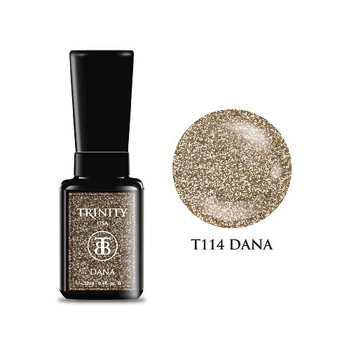 T114 - Trinity Soak Off Gel Polish - Dana  (Glitter) - 12ml/0.4oz