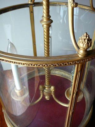 Louis XVI Style Gilded Bronze Lantern