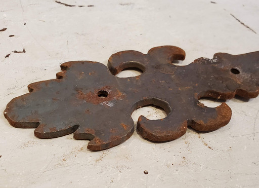Late 19th Century Cast Iron Handwrought Strap Hinges