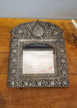 Bohemian Style Indian Hammered Metal Mirror