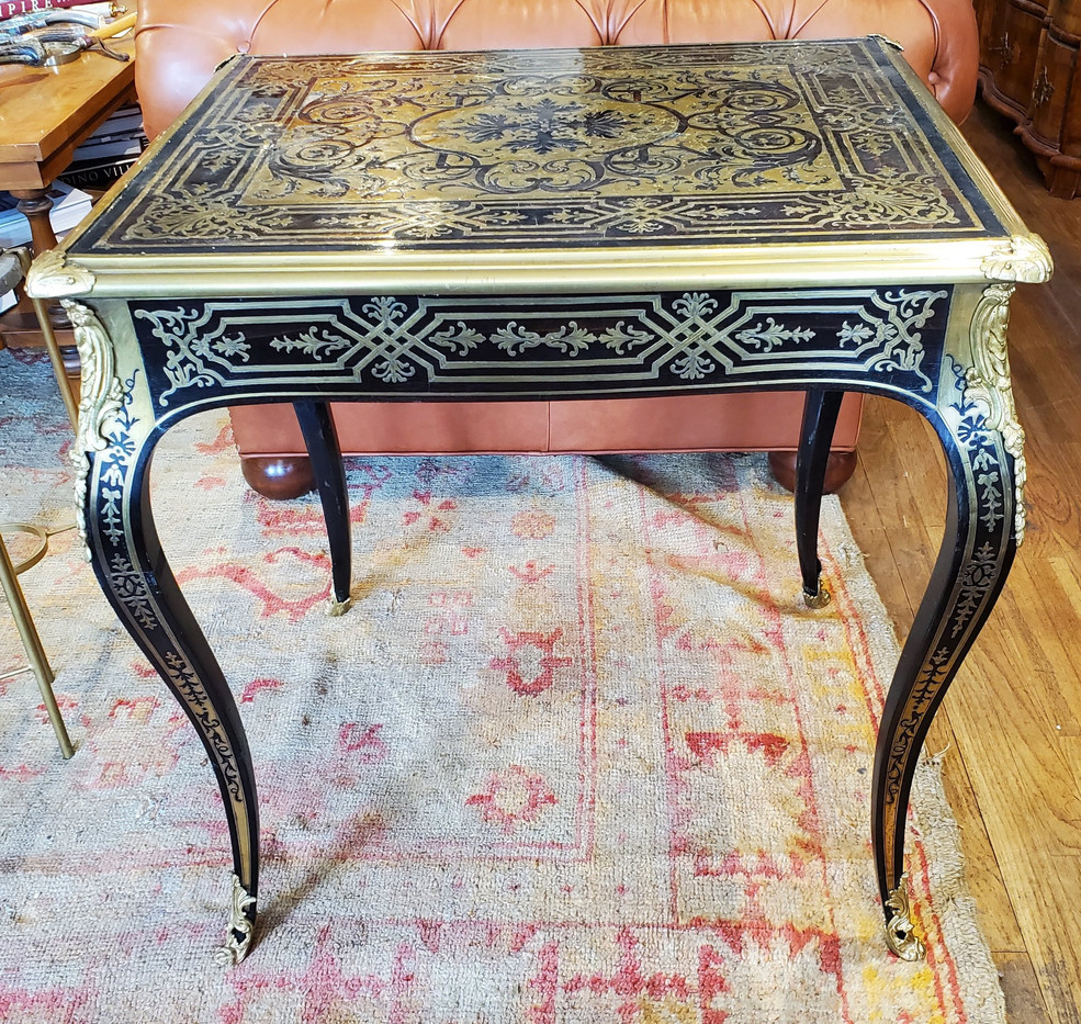 Early 18th Century Regence Period Boulle Inlaid Side Table