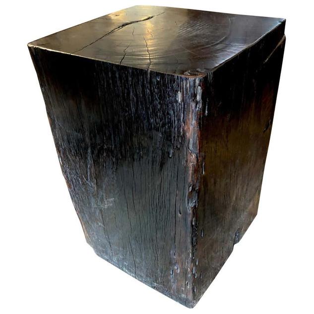 Indonesian Ironwood Block Pedestal