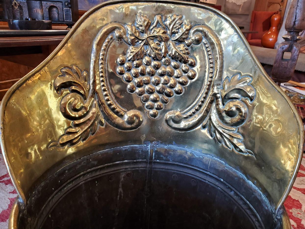 Large 19th Century English Brass Umbrella Stand
