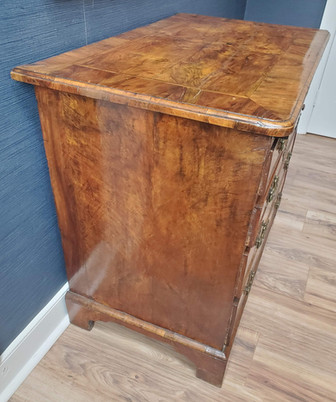George I Period Walnut Chest of Four Drawers with Brushing Slide